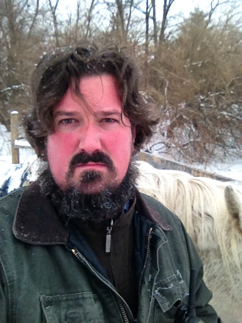 I'm not one to normally do selfies but I had to laugh at the ice in my beard, a la Ned Stark